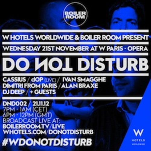 Cassius 50 min Boiler Room DJ Set at W Hotel Paris