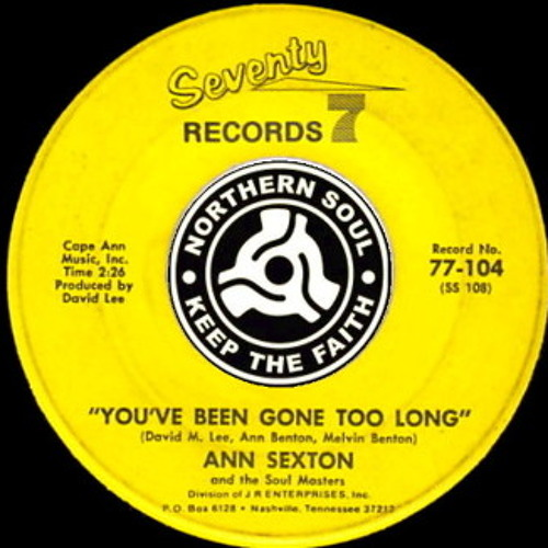 Ann Sexton ★ You've Been Gone Too Long ★ Spirito Remix by Estèphe ★ Soon on 12""