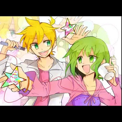 Len Kagamine & Gumi Megpoid-Mosaic Butterfly Shoulder Roll