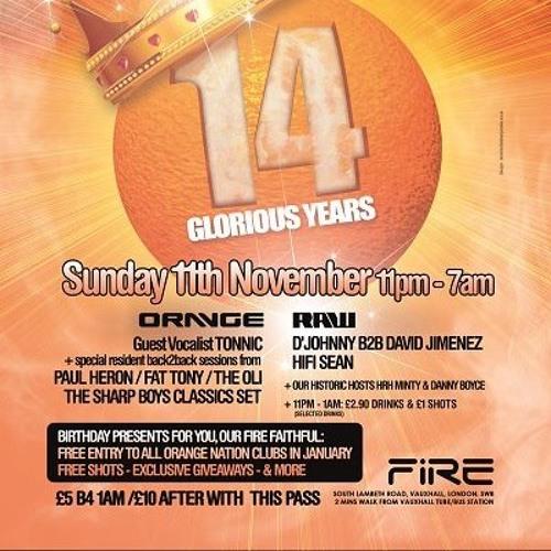 Sharp Boys - Orange 14th Birthday Party Classics Mix - Nov 2012