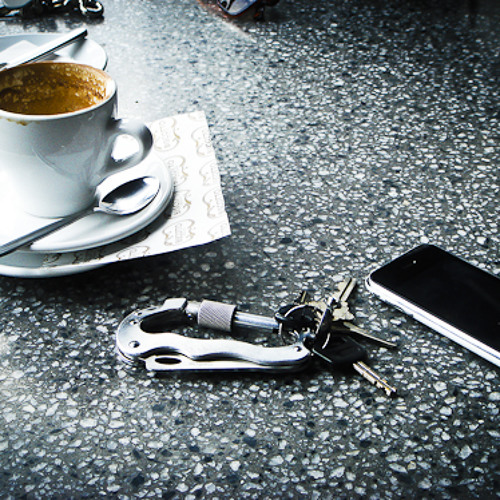 Coffee, keys, work...