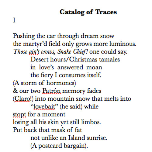 Catalog of Traces