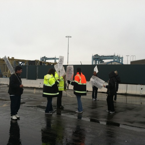 Union Workers' Strike Virtually Shuts Down The Port of LA
