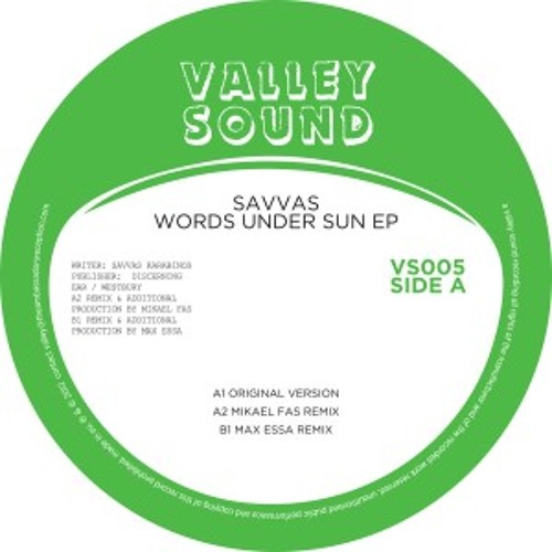 Savvas - Words Under the Sun