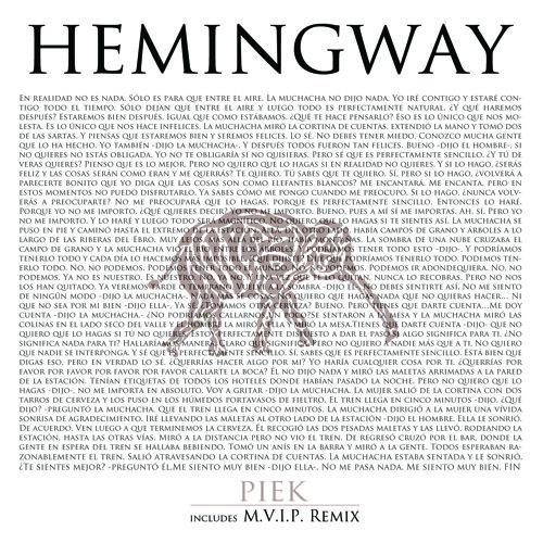 Fiakun008 - Piek - Hemingway feat Samuel Fitch & Mianyo (M.V.I.P. Remix)