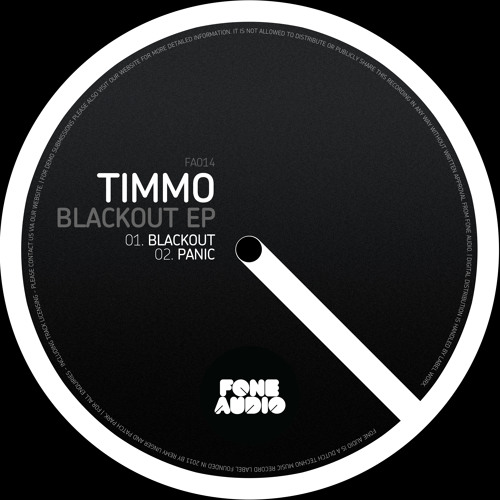 Timmo - Panic (Original Mix) [Fone Audio]