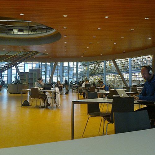 20121112 TU Delft Library, ground level - general ambience