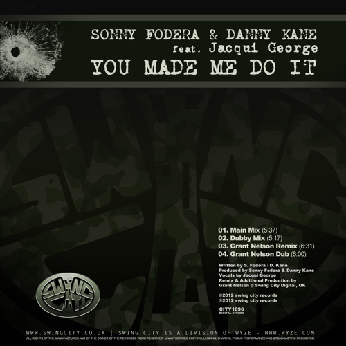 Sonny Fodera & Danny Kane ft. Jacqui George - You Made Me Do It (Main Mix) PREVIEW