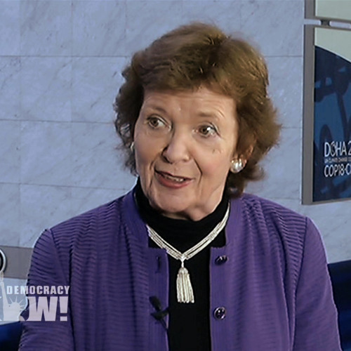 Fmr Irish President Mary Robinson: Climate Change the Biggest Human Rights Issue of Our Time