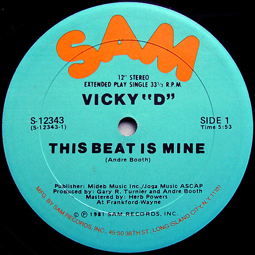 Vicky D This Beat is mine....Mastered by Sean.Gorham.Glickmix...
