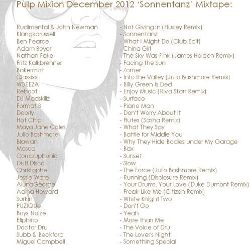 Pulp Mixion - December 2012 'Sonnentanz' Mixtape