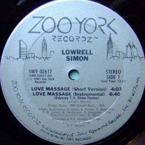 Lowrell Simon - Love Massage (Florent F Gentle Edit)