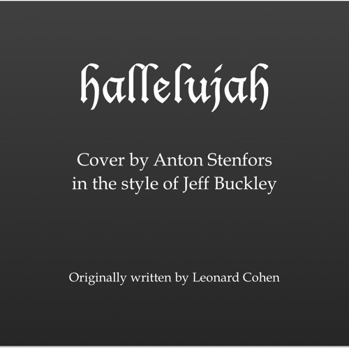 Hallelujah - COVER in the style of Jeff Buckley