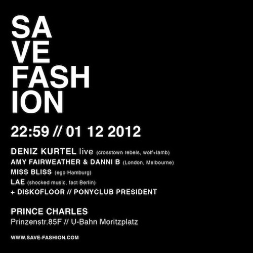 Danni B: Live at Save Fashion at Prince Charles Berlin - Dec 12