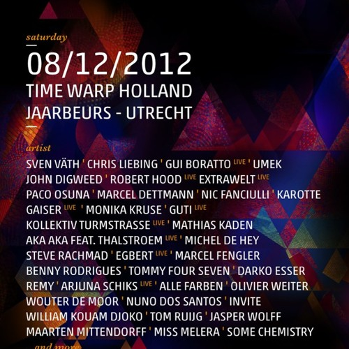Darko Esser and Remy - Live @ Time Warp Holland 2012 - 08.12.2012