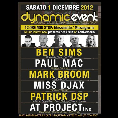 Miss Djax at Dynamic Event - La Luna Salerno Italy - 01.12.12