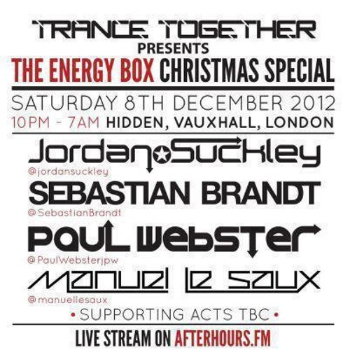 Paul Webster - Live @ The Energy Box #2 Christmas Special (London) - 08.12.2012