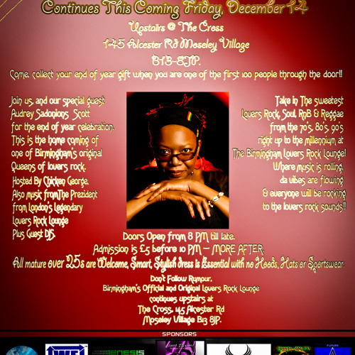 Birmingham Lovers rock Lounge Official - Friday 14 December 2012