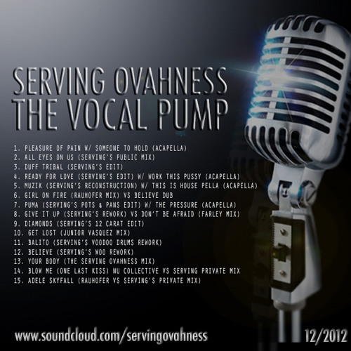SERVING OVAHNESS : PODCAST EPISODE 9 - THE VOCAL PUMP : DEC. 2012