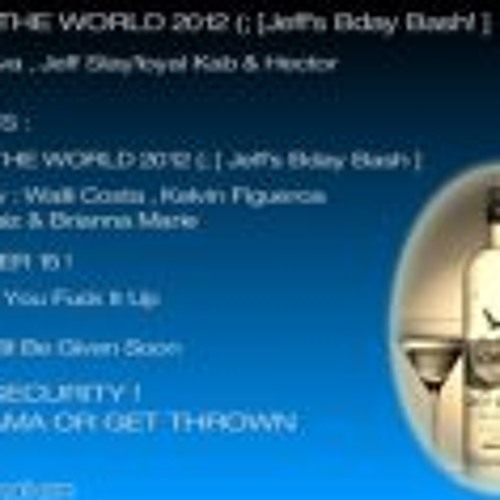 END OF THE WORLD 2012 JEFF KAB BIRTHDAY BASH SAT.DEC15 !