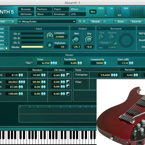 Moog Guitar - NI Absynth Sound Scape