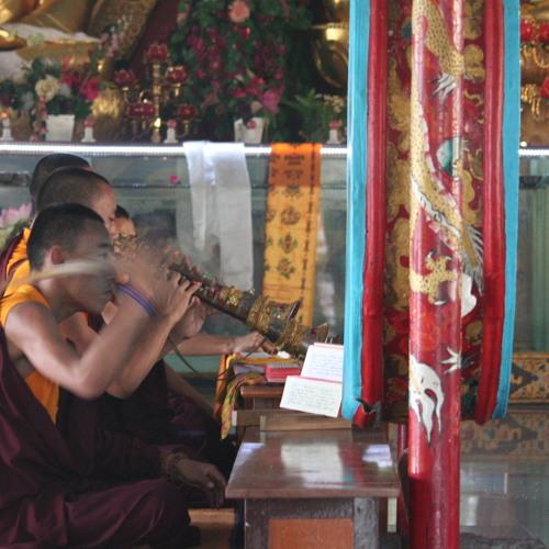 Buddhists Chants at Namdroling