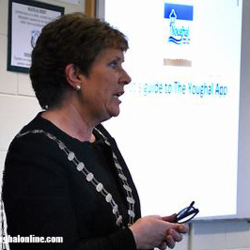 Mayor of County Cork, Barbara Murray, speaking at the launch of the new Youghal App