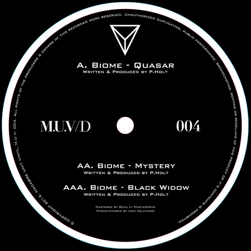 MUV004 - Biome - Black Widow ep - OUT NOW