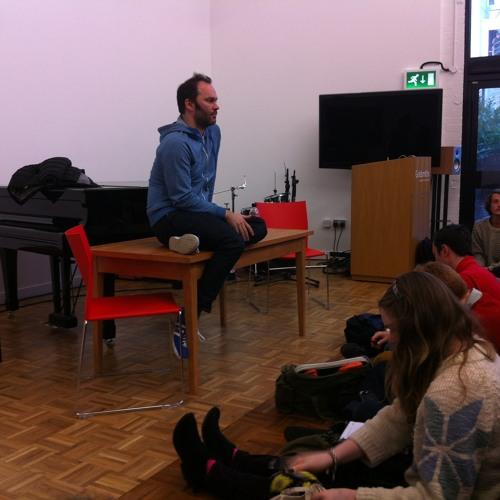 Nigel Godrich fascinating talk at Goldsmiths University, London UK