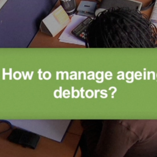 How to manage ageing debtors