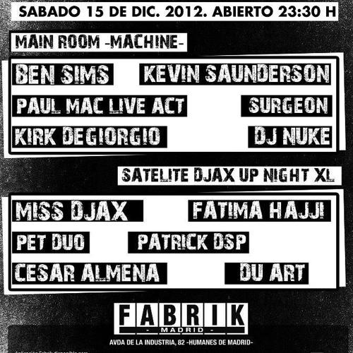 Patrick DSP - Live @ DJAX Fabrik Madrid 15.12.2012