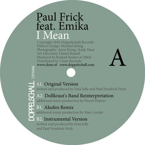 Paul Frick feat. Emika - I Mean (Dollkraut's Band Reinterpretation)