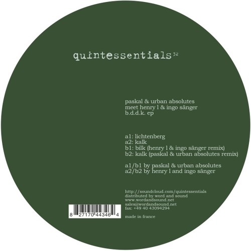 Paskal & Urban Absolutes - Bilk (Digital Bonus)