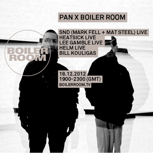 SND live in the Boiler Room
