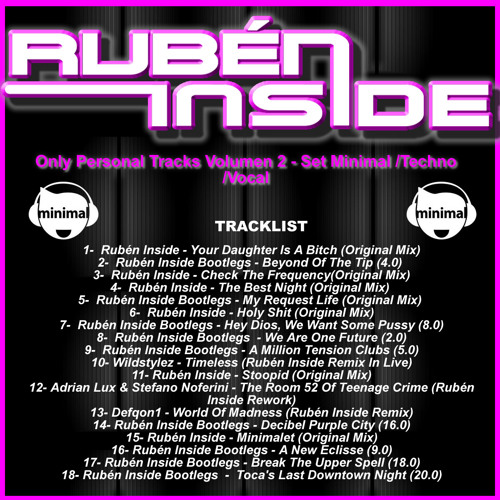 Rubén Inside Only Personal Tracks Volumen 2 - Set Minimal-Techno-Vocal *FREE IN BUY*