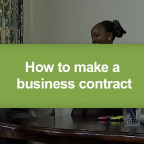 How to make a business contract