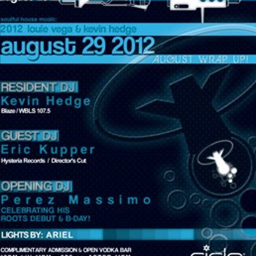 PEREZ MASSIMO LIVE AT ROOTS, CIELO NYC 8-29-12 B'DAY BASH
