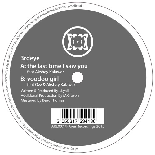 3rdeye - The last Time.... / Voodoo Girl.... (ARE007) Out Now