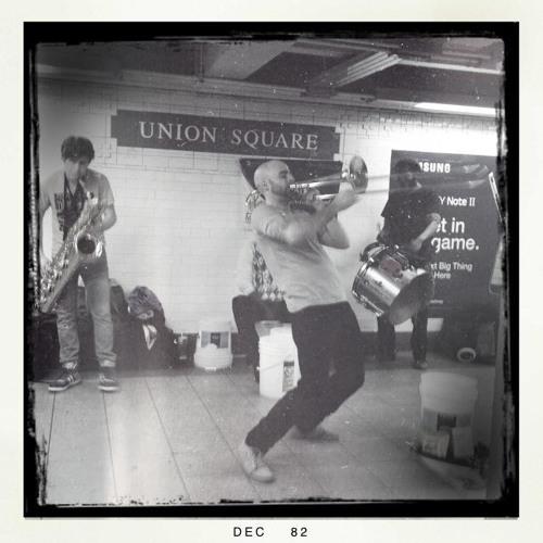 Drumadics Beat n Brass Band at Union square subway