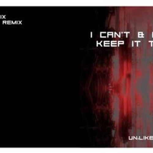"I Can't & Hendrik ""Keep it techno"" RadicalG rmx teaser"