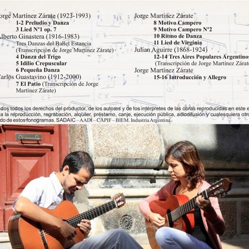 Obras para dos guitarras de Jorge Martínez Zárate