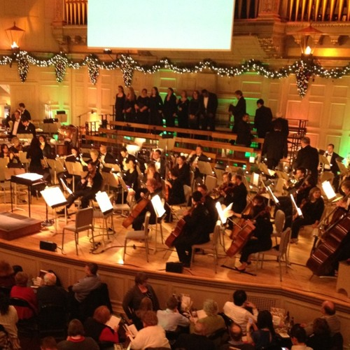 Christmas Pops warmup at Symphony Hall
