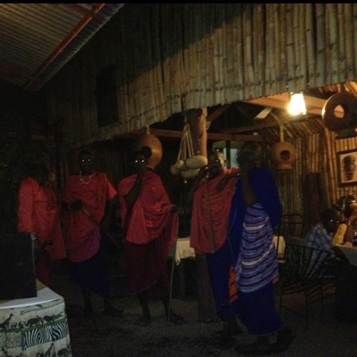 Masai in Moshi at Kindoroko Hotel
