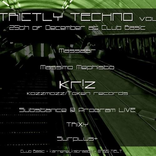Substance and Program Live @ Lab105dB Strictly Techno IV - Xmas Day 25-12-2012 (Club Basic)