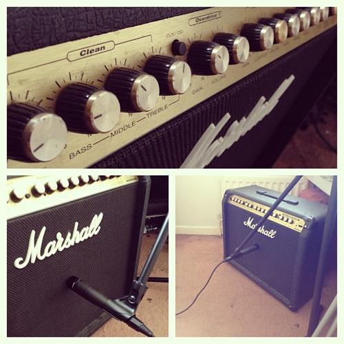 Marshall VS100 W/ Fender Stratocaster (Shure SM57 test)