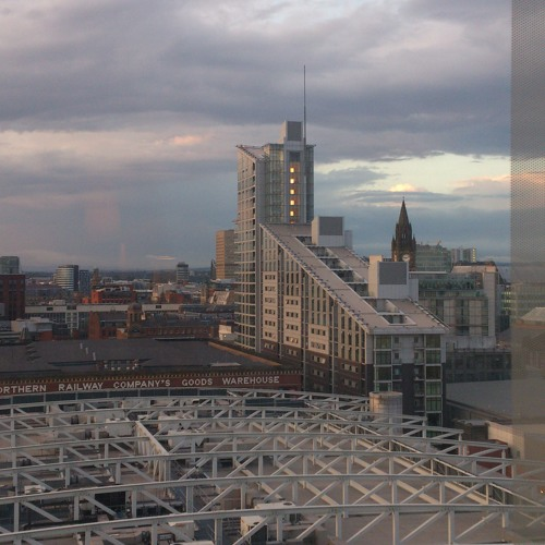 My Chill looking over a Mancunian Sunset