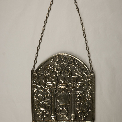 Torah shield [76.273.1]: with three bells (Poland, 20th century)