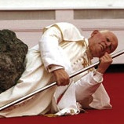 the pope hit by a meteorite