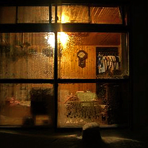 Window in the evening