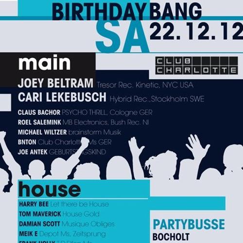 Damian Scott - BIRTHDAYBANG 22-12-2012 Club Charlotte  re-MIXED -> FREE DOWNLOAD <-